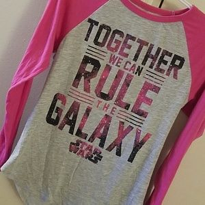 Star wars pink sleeve tee